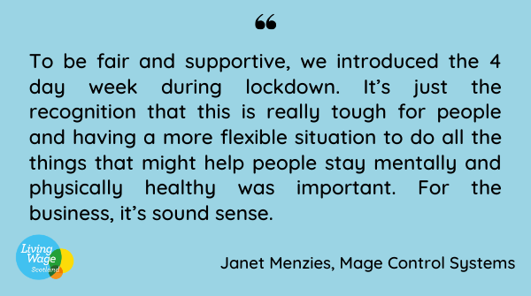 Quote from interview with Operations Director; Janet Menzies